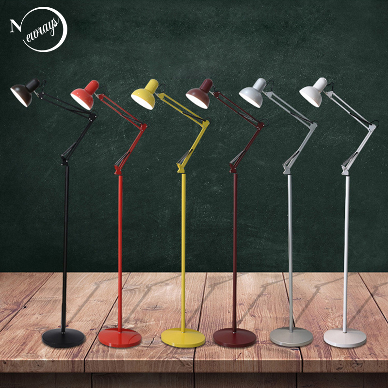 Modern Nordic style Floor Lamp Living Room adjustable hotel Lighting E27 LED AC 110V 220V For home reading Bedroom kitchen bar modern 9w 12w 15w led floor lamp remote dimmable stand lights living room piano reading standing lighting led floor lighting