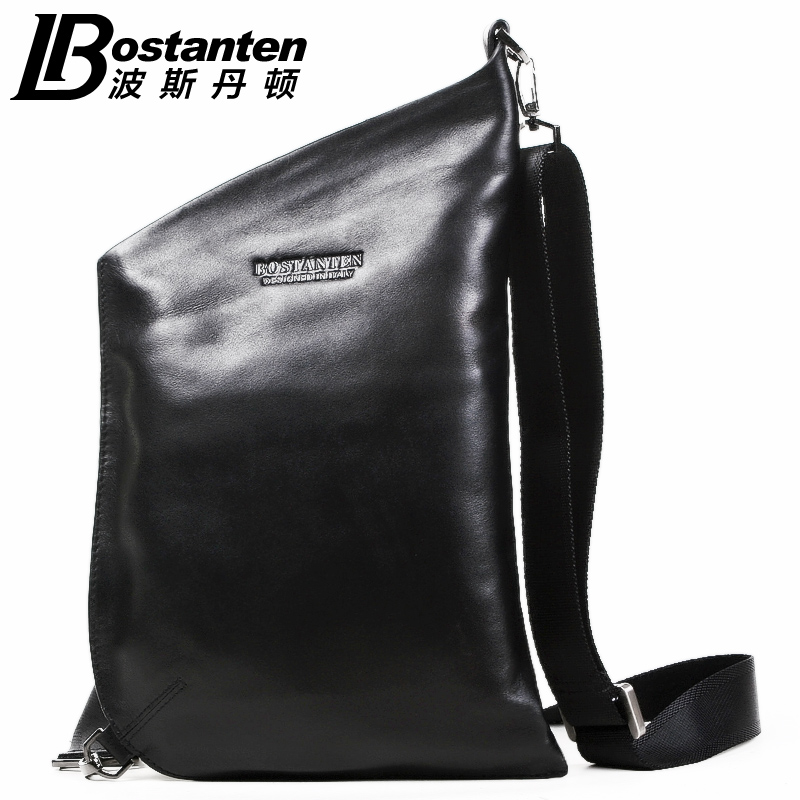 ФОТО Band 2015 Bostanten Men's Cowhide Genuine Leather Korean Personality Tide Casual Shoulder Diagonal Bag Man Chest Bag