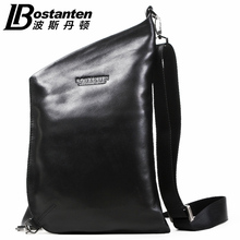 Band 2015 Bostanten Men's Cowhide Genuine Leather Korean Personality Tide Casual Shoulder Diagonal Bag Man Chest Bag