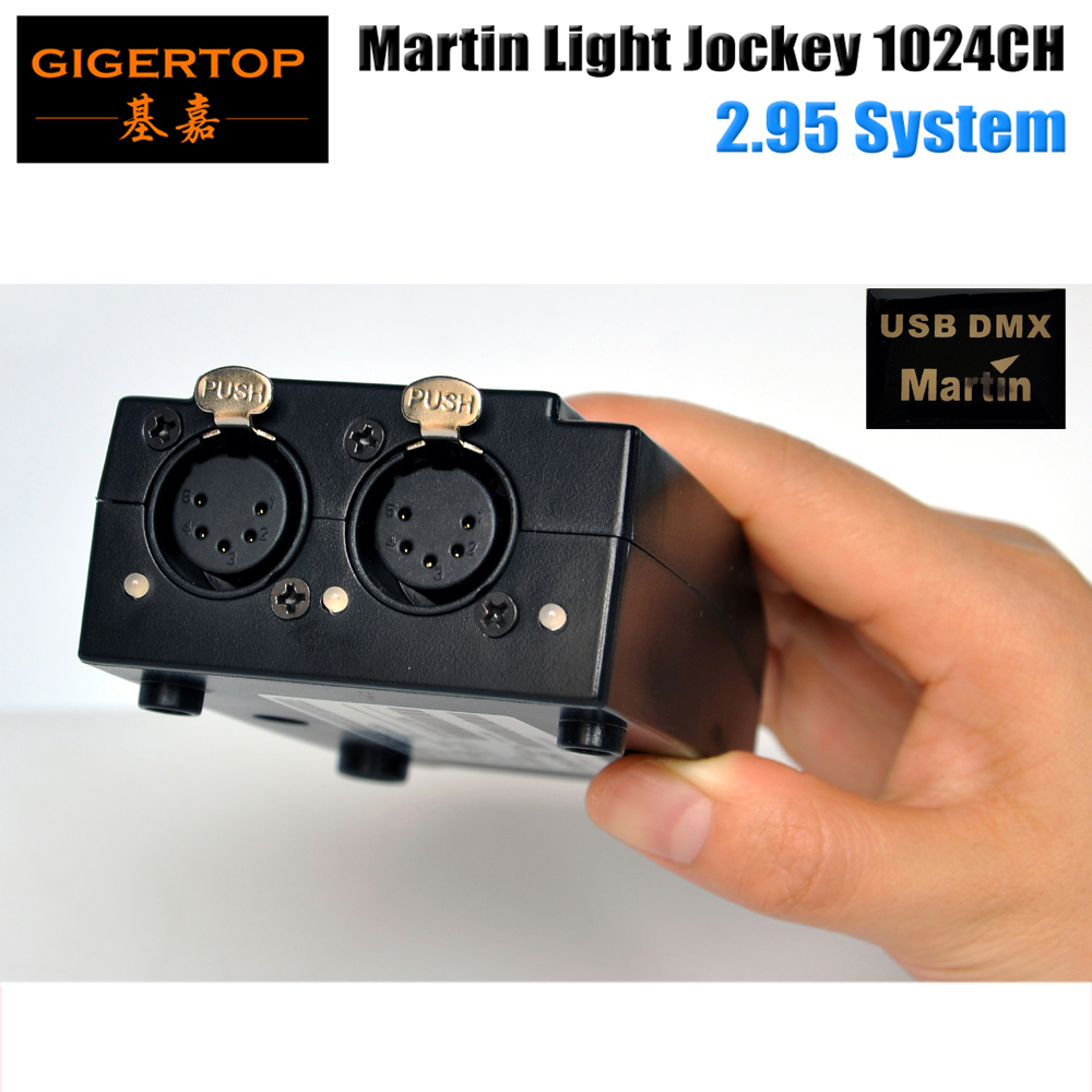 TIPTOP 5PIN DMX 1024 Output Martin Lightjockey Stage Computer PC Controller Software 2.7 Version No Need Key USB 1024 Universal