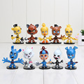 Five Nights At Freddy's 10pcs/set 6cm Action Figure Toys Models FNAF Freddy Figures Gift with Base