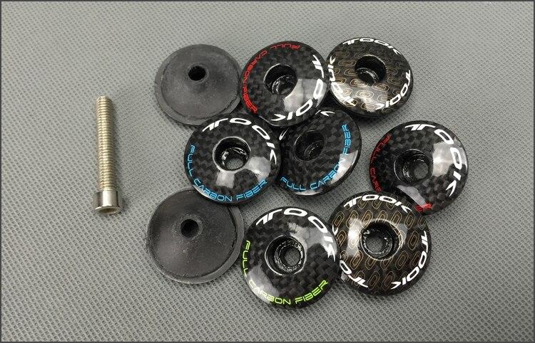 1pcs Bicycle bowl cover Road bicycle full carbon fiber headset taper MTB bike top cap stem cover 3k fin bicycle parts