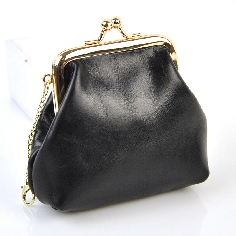 Women Genuine Real Leather Kiss Lock Coin Bag Vintage Retro Credit Card Holder Case Natural Cow Skin Purse Lady Pouch Brand New 30pcs bronze tone ruffled arch frame kiss clasps clutch handle lock purple heart for coin purse bag handbag 8 5x7 5cm page 1