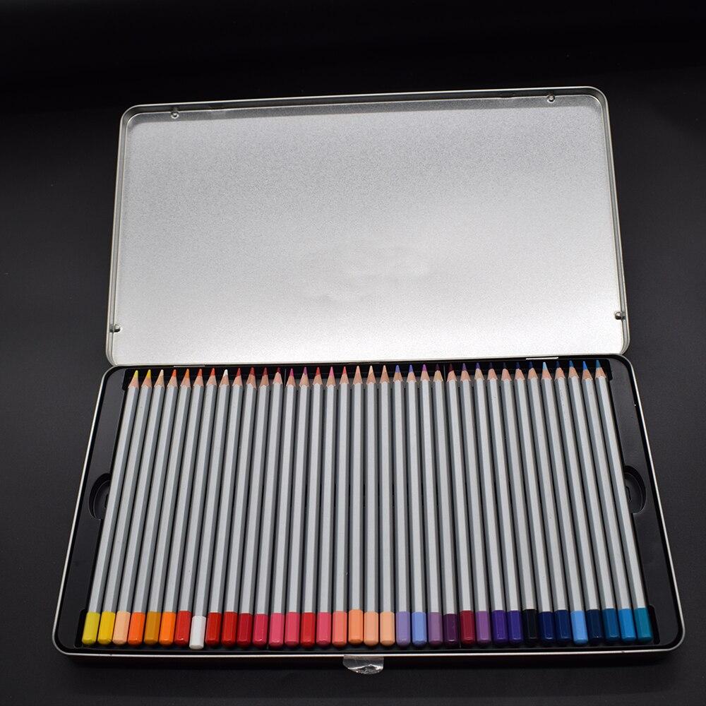 Offre spéciale Fine 72 couleur/ensemble artiste dessin crayons métal étain ensemble croquis Art ensembles peinture fournitures