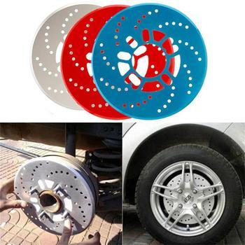 2 uds Auto coche vehículo aleación de aluminio rueda decorativa freno de disco cubierta hoja