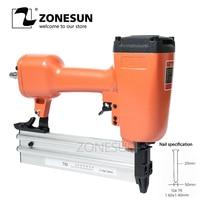 ZONESUN T50 Pneumatic Air Stapler Gun Stapler Nail Stapling Machine For Furniture Woodworking Carpentry Decoration Carpenter50mm
