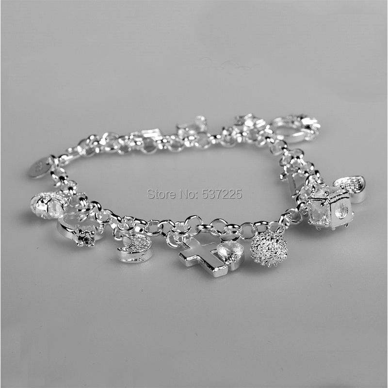 170b8ceda307 € 1.79 |2015 navidad regalos de navidad para las niñas encanto de joyería  moda pulseras de plata en Cadena y del Acoplamiento Pulseras de Joyería ...