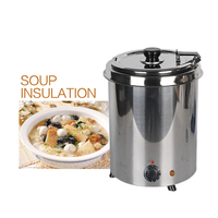 5 7L Commercial Soup Kettle Warmer Pot Wet Heat Stainless Steel Buffet Restaurant