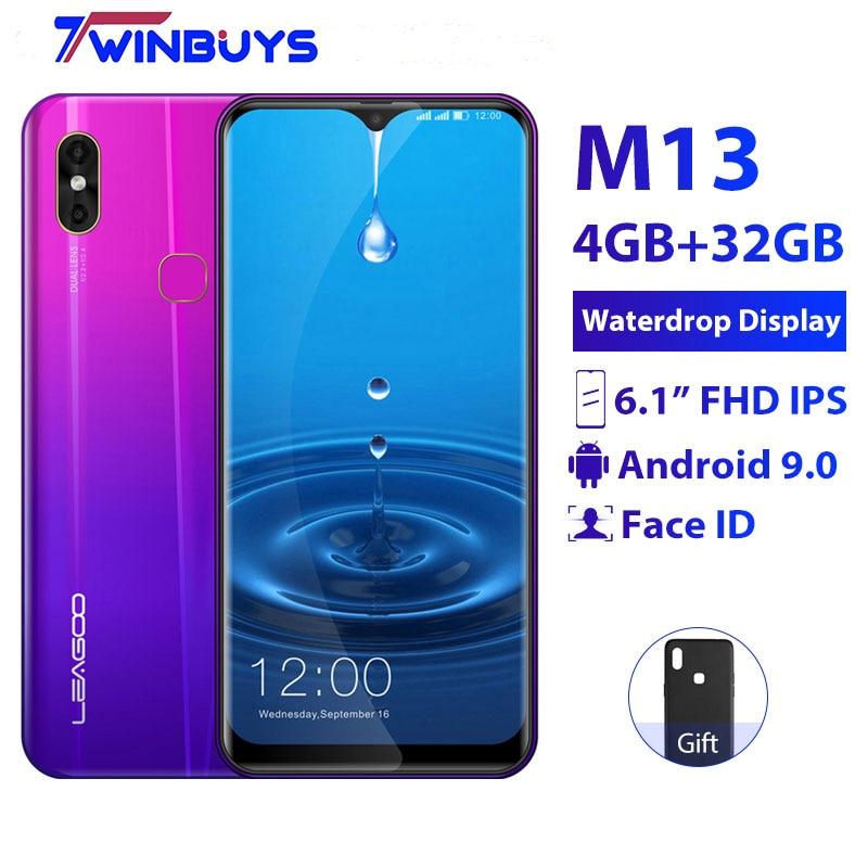 "LEAGOO M13 4 GB pamięci RAM 32 GB ROM telefon komórkowy Android 9.0 6.1 ""Waterdrop ekran MTK6761 Quad Core linii papilarnych face ID 4G Smartphone w Telefony Komórkowe od Telefony komórkowe i telekomunikacja na AliExpress - 11.11_Double 11Singles' Day 1"