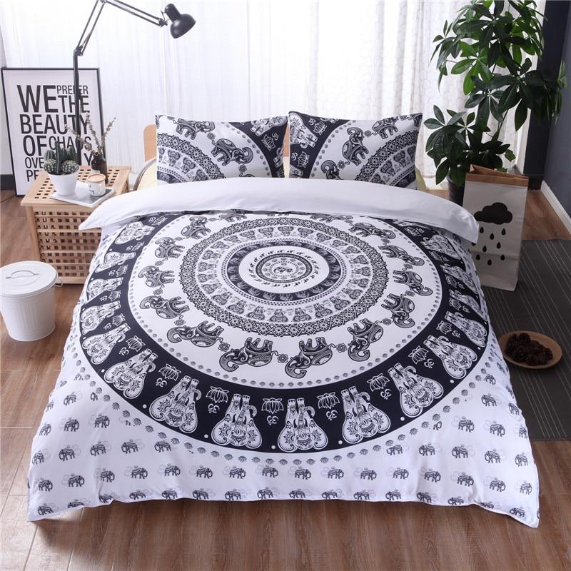 Black And White Hippie Bedroom Bedroom Furniture Showroom In Karachi Teenage Bedroom Furniture Uk Retro Bedroom Design Ideas: Black And White Boho Bedding Sets King Size Bohemian Style