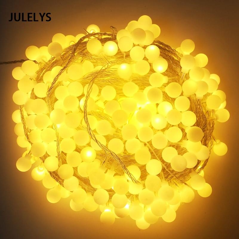 JULELYS 50 M 400 Bombillas Bola Guirnalda Navidad LED Luces de Cadena - Iluminación de vacaciones