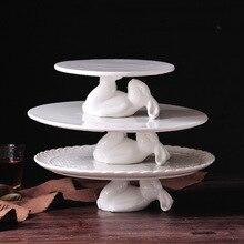 """"""" /12"""" кролик керамическая тарелка посуда для десерта еда Свадебные тарелки наборы украшения милый торт ремесла подарок влюбленным сюрприз"""