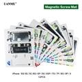 UANME см 12 шт./лот Профессиональный Магнитный винт коврик для iPhone 5/5c/5S/6/6 Plus/6s/6s Plus/7/7 Plus/8/8 Plus/х руководство подставка инструменты
