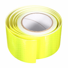 New  Durable Quality Yellow Reflective Safety Warning Conspicuity Tape Roll Film Sticker Good Viscous Waterproof