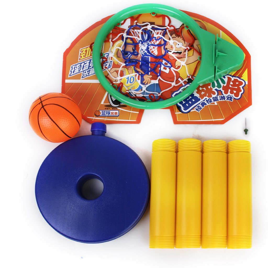 DSGS SODIAL(R)Toy Set Portable Basketball Basket Basketball Ball with Support
