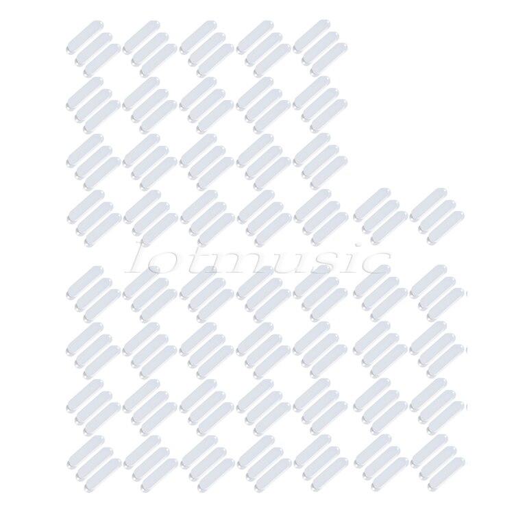 150 pièces Solide Blanc À Simple Bobinage Housses Fermé Plastiques Pour Fender Strat Guitare Remplacement