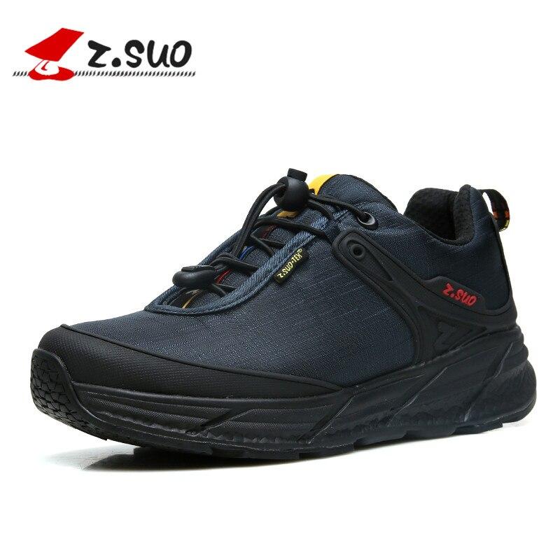 ZSUO Marque Extérieure Imperméable Hommes de chaussures décontractées Ultra-Léger MD Sole Sneakers Pour Hommes Doux Confortable à lacets Noir chaussures pour hommes