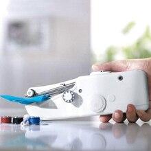 Оверлок лапки для швейных машин Мини ручной электрический швейная машинка Handy стежка Портативный Главная Швейные Быстрый Таблица Ручные одноместный стежка ручной работы инструменты для поделок
