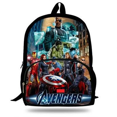 Us 1998 20 Off16 Inch Mochila Tas Sekolah Anak Laki Laki Keren Avengers Marvel Avengers Bookbag Ransel Untuk Remaja Gadis Tas Travel Anak In Tas