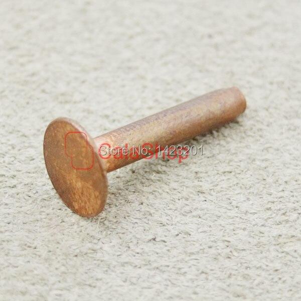 9mm 100 pcs Lot Solid Copper Rivets Burrs Permanent Fasteners Gauge Horse Tack