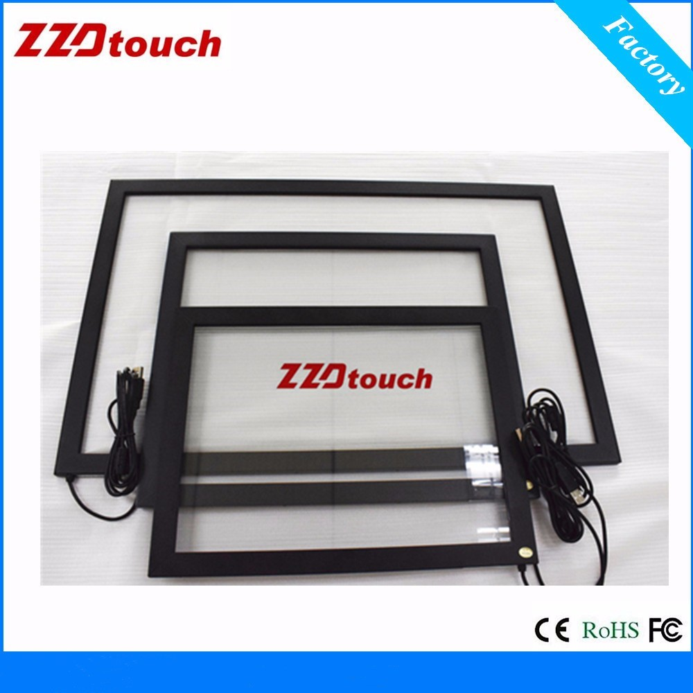 ZZDtouch 15 inch touchscreen 2 points infrared touch screen overlay IR touch frame for touch screen