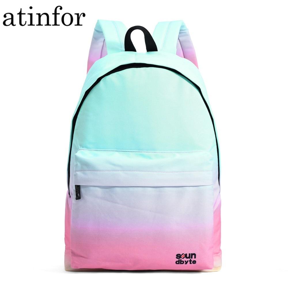 237d87e0302b Atinfor водостойкий рюкзак для женщин Леди Путешествия сумка для ноутбука  обувь для девочек школы печати рюкзак