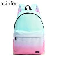 atinfor Waterproof Backpack Women Lady Travel Laptop Bookbag Girls School Printing Backpacks for College Students