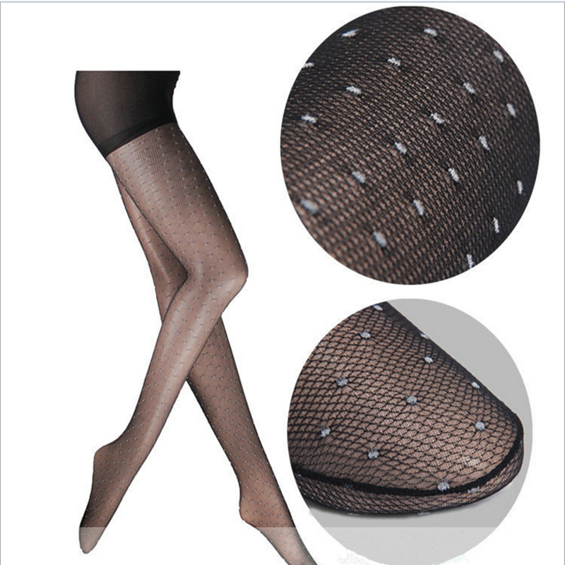 New Sexy Net Pantyhose Black Transparent Mesh Fishnet Tights For Women Fashion Female Mesh Stocking High Elastic Knitted Pattern