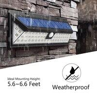 54 LEDs Solar Sensor Waterproof PIR Human Body Induction Motion Sensor Dimmable Wall Light For Outdoor