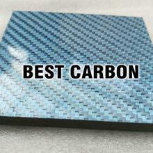 5 мм толщина маленькая синяя пластина из углеродного волокна, глянцевая синяя поверхность