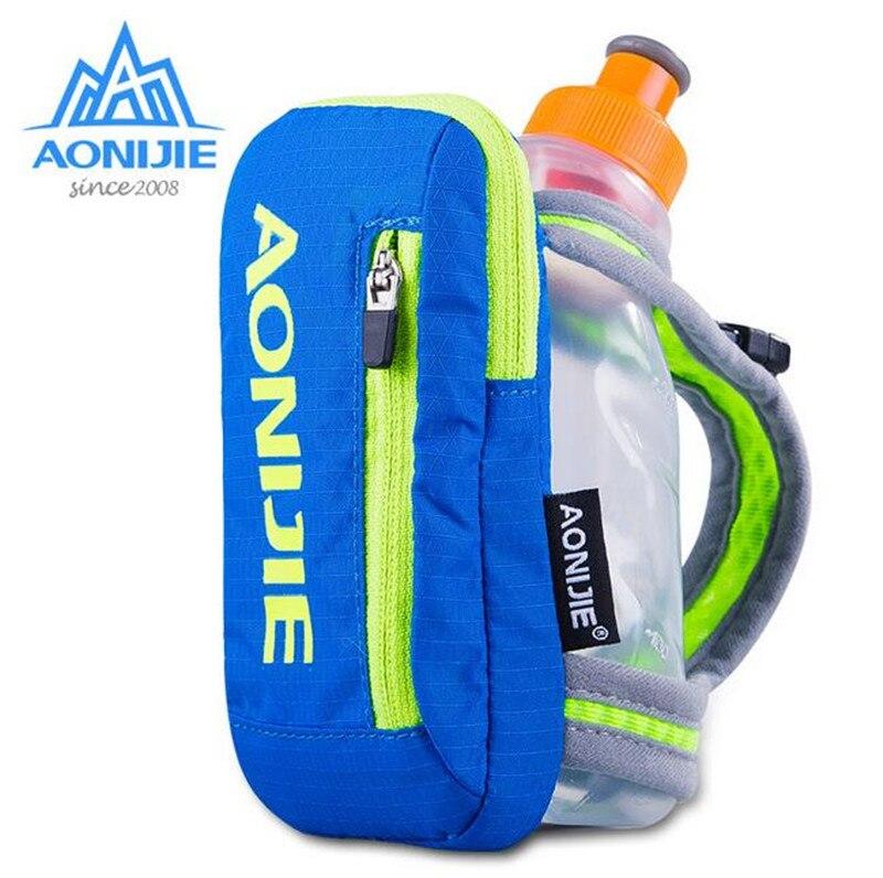 Prix pour AONIJIE Marathon Bouilloire Pack Sports de Plein Air De Poche de Course Sac Randonnées Courir Main Tenir Bouteilles + 250 ML Bouilloire En Nylon Pack