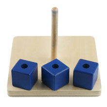 Wooden Montessori Toys Infant Cubes on Vertical Dowel Educational Learning Toys For Toddlers Juguetes Montessori ME2844H