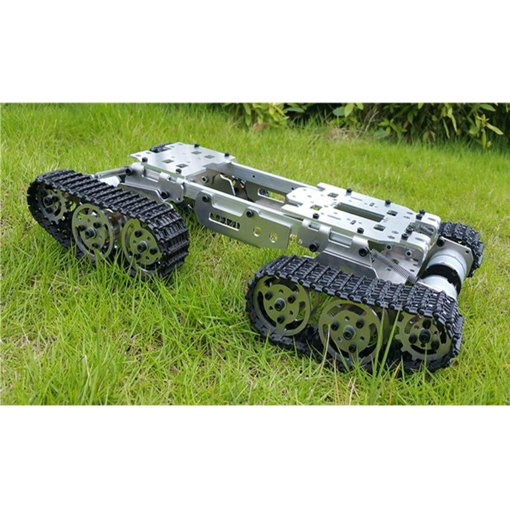 Alliage En Métal Réservoir Châssis Tracteur Sur Chenilles Réservoir D'équilibre Châssis RC Réservoir Montage De Camions Châssis de Robot Arduino Voiture