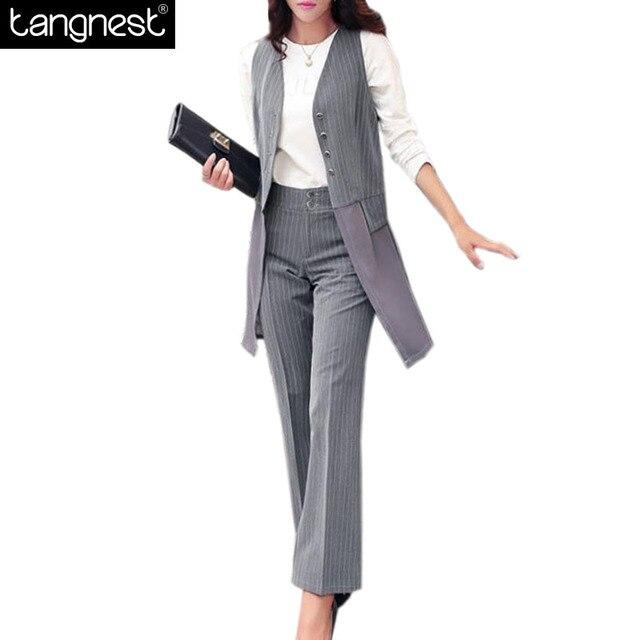 24971807de7 TANGNEST модные женские туфли Костюмы 2017 Офисные женские туфли длинные  Пиджаки для женщин штаны в