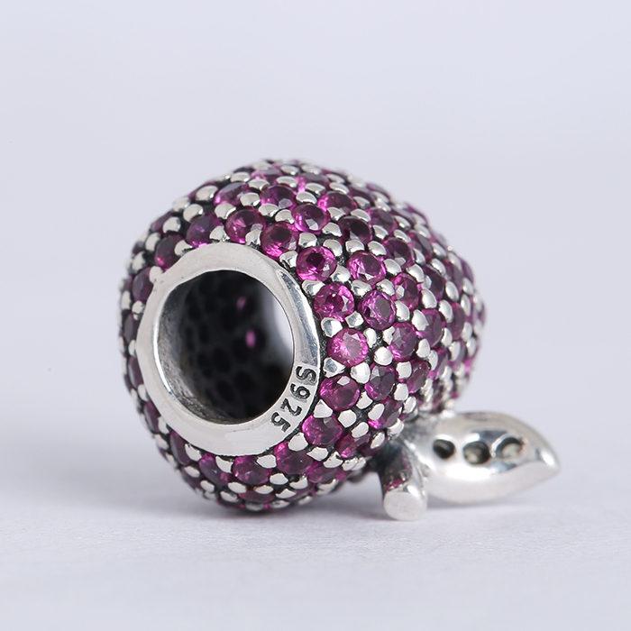 e9d042bf209b New Spring collection 925 sterling silver pave apple charms with fancy red    light green cz Suitable for Pandora Charm Bracelets-in Beads from Jewelry  ...