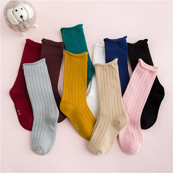 Spring Summer Baby Boy Girls Crimped Cotton Socks Solid Candy Color Kids Toddler Double Needle Short for Children 1-10Y - discount item  24% OFF Children's Clothing
