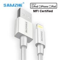 SAMZHE pour iphone Câble MFI Certifié Foudre câble Pour iPhone 8 7 5S SE 6 6 s plus iPad rapide de charge de Données usb Câble 1 m 1.5 m
