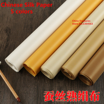 Price for 1m,Alum Silk Chinese Silk Paper for Calligraphy Writing Chinese Painting Study Supplies High Quality