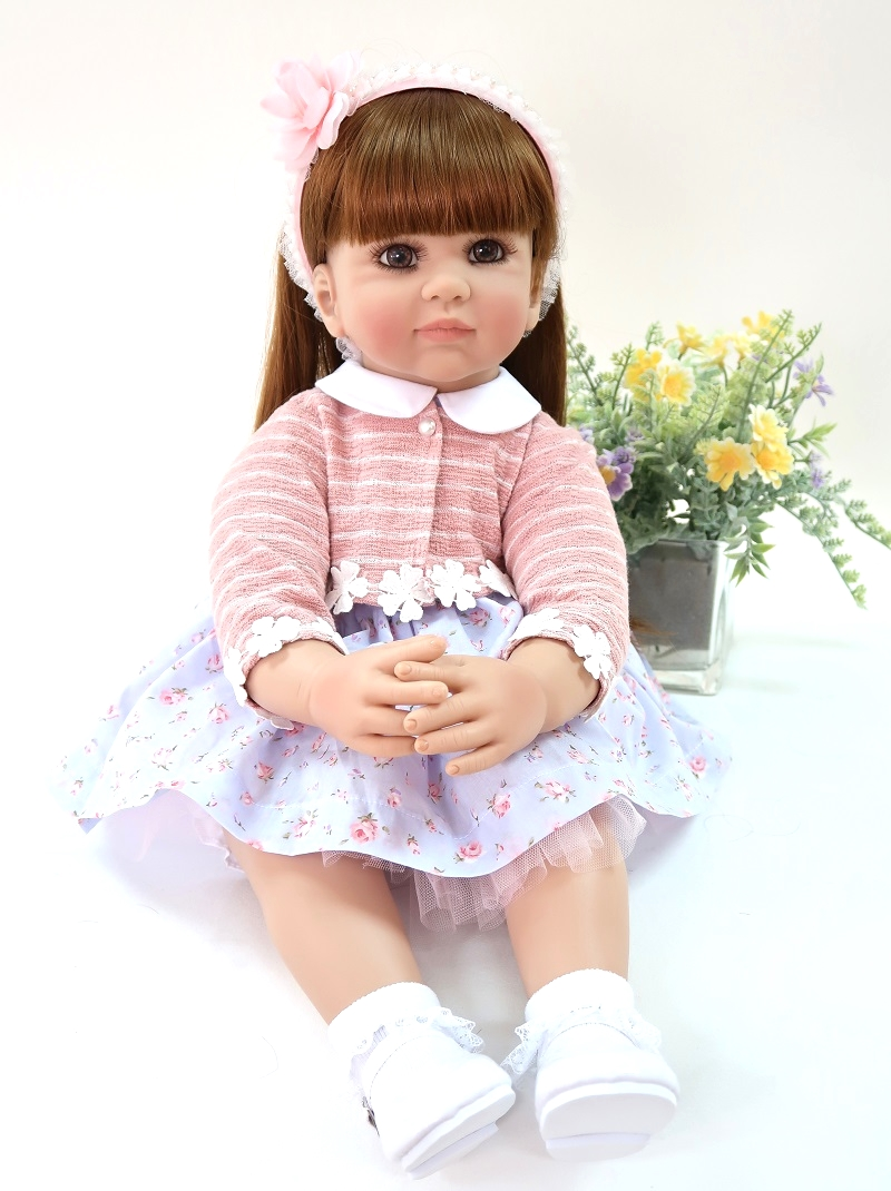 2c60cee1a Detail Feedback Questions about DOLLMAI Baby Alive 58cm Soft Silicone  Reborn Doll Toys big eyes BeBe Reborn kit Toys Lifelike Interactive  playmate Juguetes ...