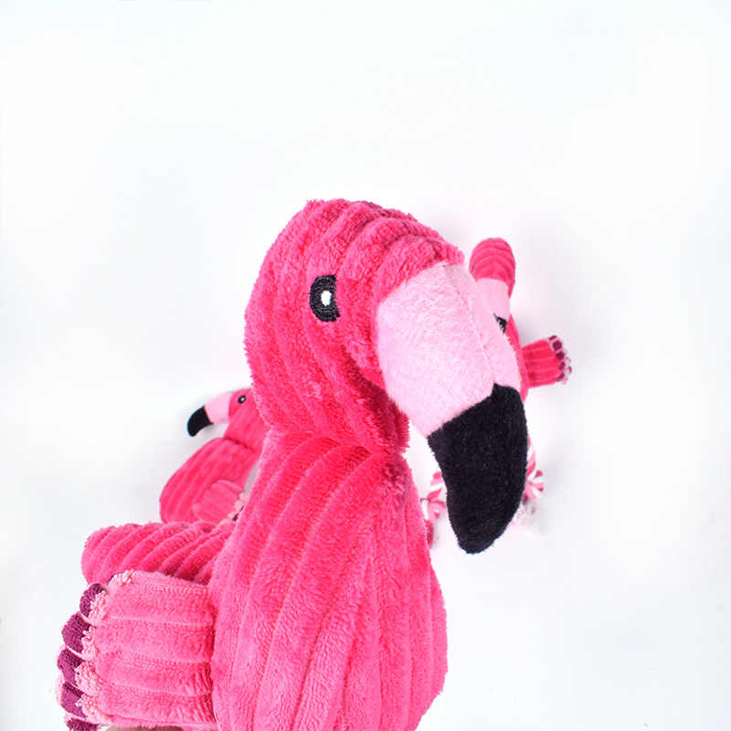 Ins Style Flamingo Bird Plush Toys for Pet Dog Cat Squeak Chew Sound Toy  for All Pets Cute Plush Toys Home Decoration