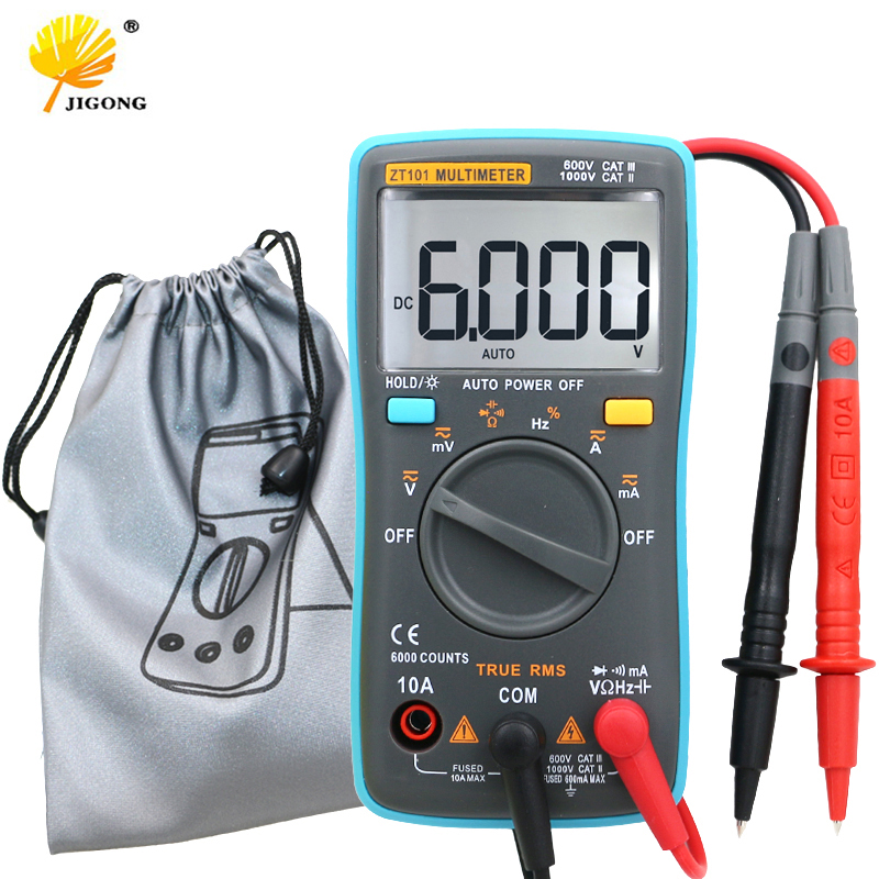 QST101 Digital Multimeter 6000 counts Backlight AC/DC Ammeter Voltmeter Ohm Portable Meter все цены