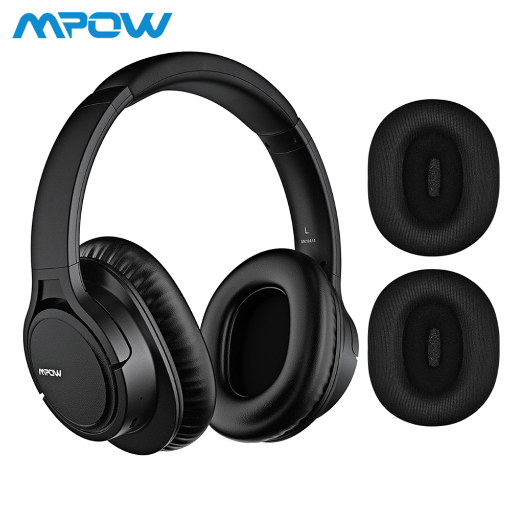 Mpow APTX H7 Plus Wireless Wired Headphones Bluetooth 4 1 Headset 2 Replacement Earmuffs For iPhone