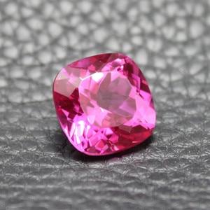 Image 2 - Безупречные розовые, красные турмалиновые камни, бисер для самостоятельного изготовления ювелирных изделий с розово красным камнем rosee fat квадратной формы