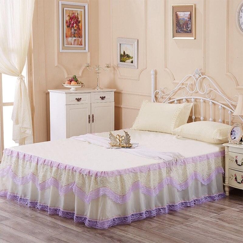 beige jupe de lit promotion achetez des beige jupe de lit promotionnels sur. Black Bedroom Furniture Sets. Home Design Ideas