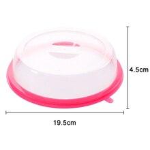 Food Microwave Hover Anti-Sputtering Cover Oven Oil Cap Sealed Plastic Dish Anti Splash J2Y