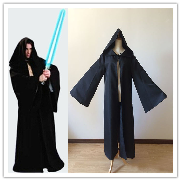 Star Wars Darth Vader Robe costumes Halloween Cosplay Jedi Black Robe Cloak Cape for Men Darth Vader Costume