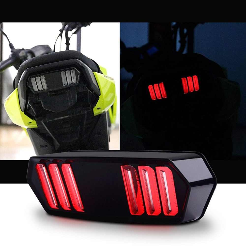 12 v Motorfiets LED Running Rear Brake Stop Tail Light Voor MSX125 MSX 125 Zwart Shell