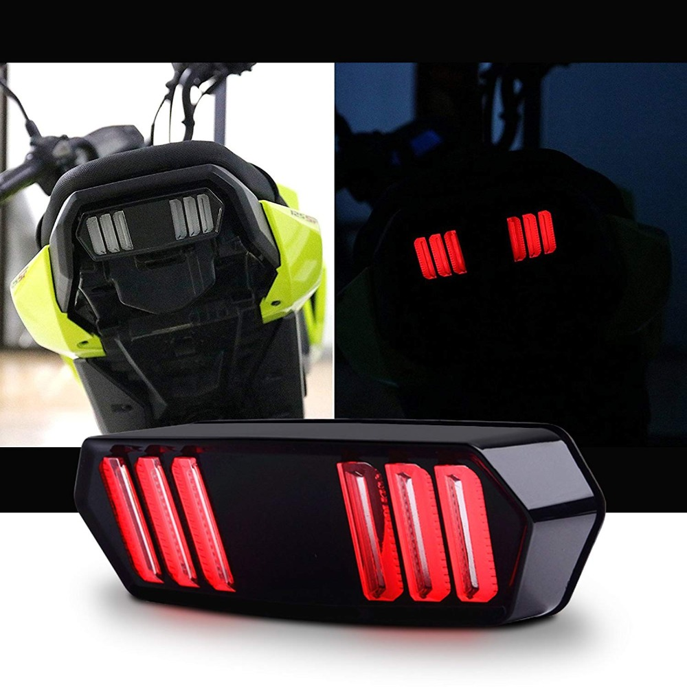 12v Motorcycle LED Running Rear Brake Stop Tail Light For MSX125 MSX 125 Black Shell