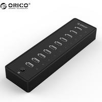 ORICO US Plug Practical ABS 10 Port USB 2 0 HUB For Laptop Desktop Black P10