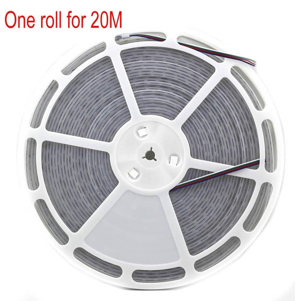 20 m dc 24 v ha condotto la luce di striscia tubo in silicone impermeabile IP67 1200led cool white warm white rgb nastro flessibile corda